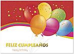 Spanish Balloons Birthday Card A4028U-X