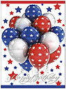 Star Balloons Birthday Card A4035U-X