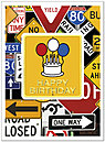 Birthday Sign Card A4037U-X