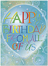 Birthday From All Card A4041U-X