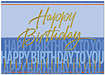 Happy Birthday to You Card A4042D-X