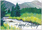 Painted Stream Birthday Card A4051D-Y