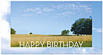Summer Fields Birthday Card A4052T-Z