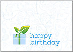 Green Gift Birthday Card A4056KW-X