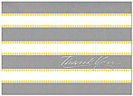Grey Stripes Thank You Card A4058D-X