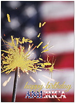 July 4th Sparkler Card A4067U-X