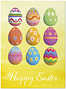 Easter Egg Patterns Card D4069U-Y