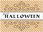 Halloween Stripes Card D4071U-Y