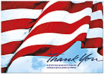 Armed Services Thank You Card D4075D-Y