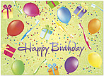 Dental Party Birthday Card D4096U-Y