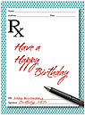 Birthday Script Card D4099U-Y