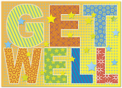 Bright Get Well Card D4100D-Y
