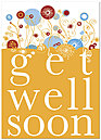 Get Well Floral Card D4101D-Y