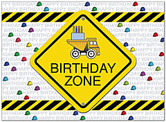Birthday Zone Construction Card D4105U-Y