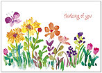 Thinking of You Floral Card D4113D-Y