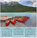 Red Canoes Wall Calendar D4162U-AA