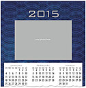 Blue Frame Photo Wall Calendar D4164U-4A