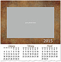 Pattern Photo Wall Calendar D4167U-4A