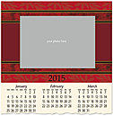 Red Border Photo Wall Calendar D4168U-4A