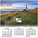 Big Sable Point Logo Wall Calendar D4172U-4A