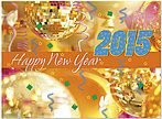 Happy 2015 New Year's Card D4245U-A