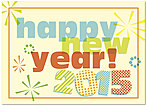 Happy New Year 2015 Card D4246D-A