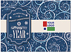Snow Swirls Logo Card D4250U-4B