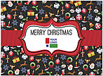 Christmas Icons Logo Card D4251U-4B