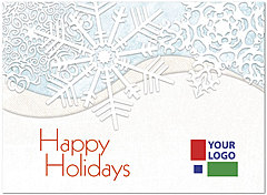Winter White Logo Card D4252U-4B