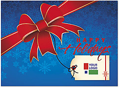 Red Bow Logo Card D4256U-4B