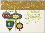 Dazzling Ornaments Holiday Card H4199G-4A
