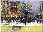 Paris in the Snow Holiday Card H4204G-AAA