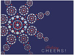 Patriotic Snowflake Holiday Card H4209S-AAA