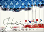 Patriotic Wishes Holiday Card H4218U-AA