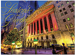 Wall Street Lights Holiday Card H4219U-AA