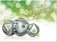 Money Baubles Holiday Card H4220U-AA