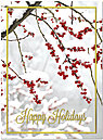 Red Berry Branch Holiday Card H4223U-AA