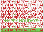 Happy Happy Holidays Card H4233U-A