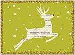 Reindeer Sentiments Christmas Card H4234U-A