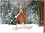 Winter Chapel Christmas Card H4236U-A