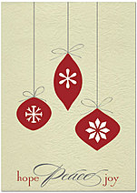 Hope Peace Joy Holiday Card H4244KW-AA