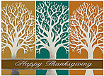 Silver Autumn Thanksgiving Card H4122S-AAA
