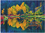 Colorful Reflections Thanksgiving Card H4128G-AAA