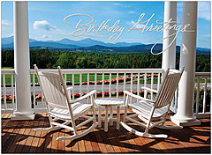 Porch View Birthday Card A4019U-X