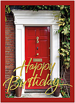 Red Door Birthday Card A4033U-X