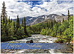 Mountain Stream Birthday Card A5000S-W