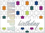 Colorful Medallions Birthday Card A5001S-W