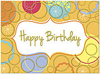 Birthday Circles Card A5002G-W