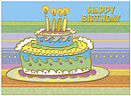 Crazy Cake Birthday Card A5003G-W