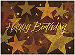 Golden Stars Birthday Card A5005G-W